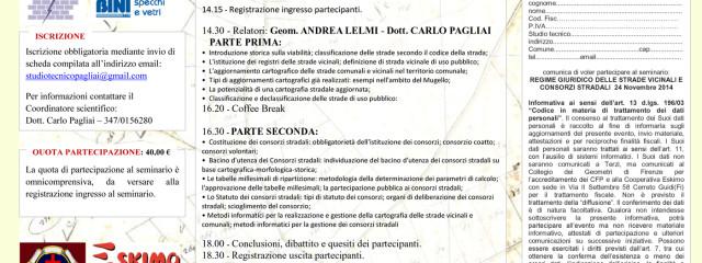"""[Concluso] Seminario Tecnico: """"Regime Giuridico Delle Strade Vicinali E  Dei Consorzi Stradali"""" – Empoli Ven 14 Novembre 2014"""