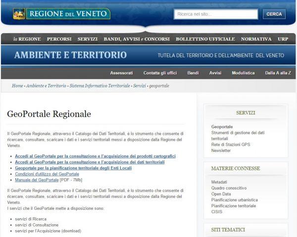 Veneto geoportale