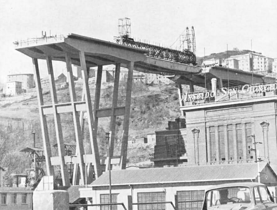 Ponte morandi considerazioni urbanistiche sul passato e for Disegni di ponte a 2 livelli